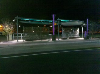 Chandler Bus Stop Night Photo