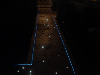 Fiber Optic Walkway Lighting