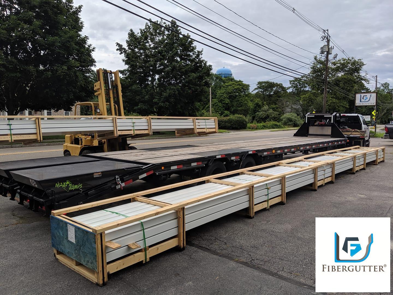 Fiberglass Gutter Delivery (FiberGutter HQ-Halifax, MA)