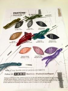 Dye samples with Pantone report