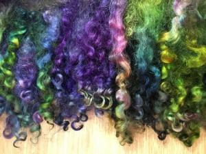 KB - Dyed Fiber - Locks Purples and Greens
