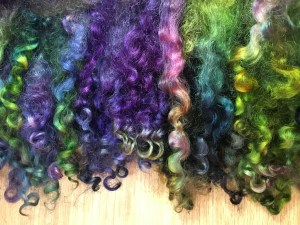 KB - Dyed Fiber - Locks Purples and Greens