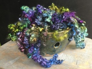 KB - Dyed Fiber - Purples and Greens