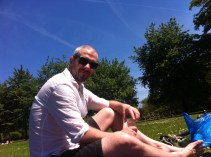 enjoying the sunny day