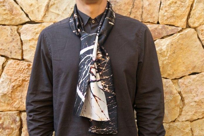 foulard homme en soie personnalisé