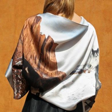 Fular versátil estola bolero en satén de seda