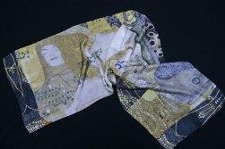 Klimt silk scarf water snakes Fibra Creativa