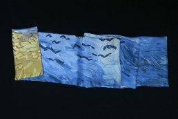 foulard soie homme Van Gogh Champ aux corbeaux
