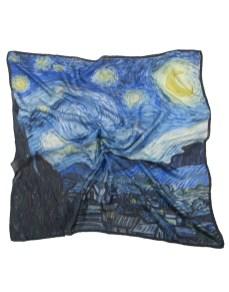 Carré en soie Van Gogh 90×90 cm. Robe en soie Van Gogh La Nuit Étoilée dd1ad0ece51