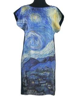 Robe en soie Van Gogh La Nuit Étoilée