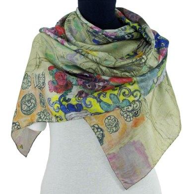 Klimt portrait of Ria Munk silk scarf