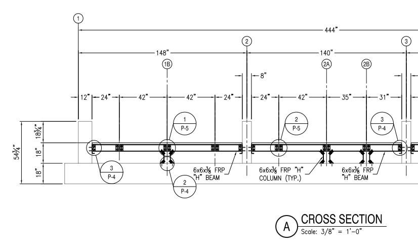 FRP Shop Drawings including FRP Panels or pultruded framing projects
