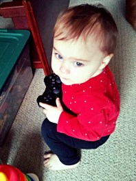 Our little gamer!
