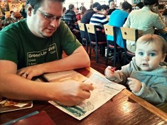 Eating out with the family.