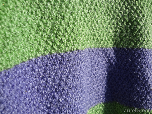 a photo close-up of double moss stitch