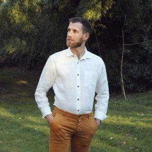 """Men's Shirt """"Ivy"""" - 100% Linen"""