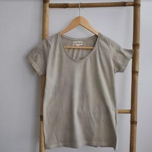 Tshirt femme manches courtes gris