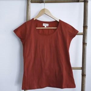 Tshirt femme manches courtes rouge