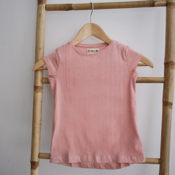 Tshirt fille manches courtes rose