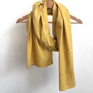 Echarpe Coton biologique Haldi Yellow