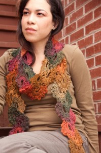 Queen Anne's Lace Crochet Scarf