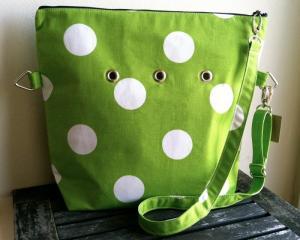 Totable in Bright Green Polka-dots