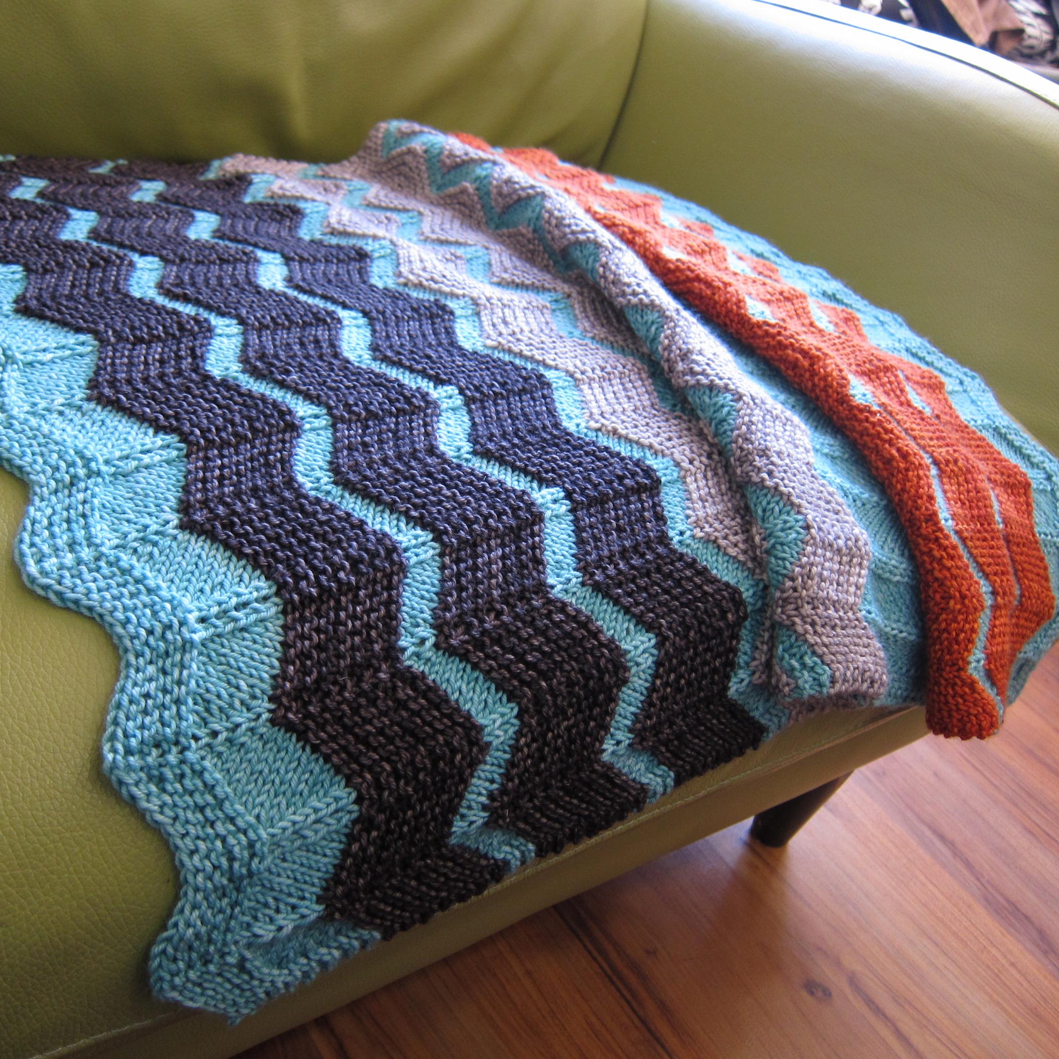 e9e1cb1d7ba3c The Walt Painted Chevron Baby Blanket - fibre space