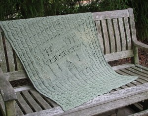 Check out the Sleeping Baby's Castle Baby Blanket by local designer Sally Rainey.
