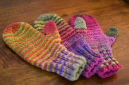Waiting for Winter Mittens and Fingerless Mitts by Susan B. Anderson, © susan b anderson