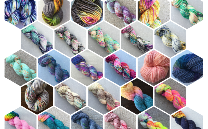 A sampling of The Lemonade Shop colorways, from Heather Rhoads' website.
