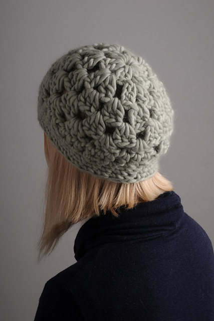 The Mrs. Moon Hat uses just one skein of Plump Superchunky.