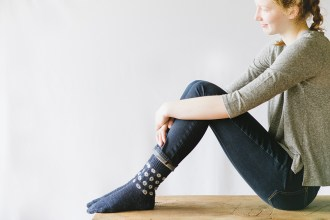 Kanoko Socks by Mary Jane Mucklestone