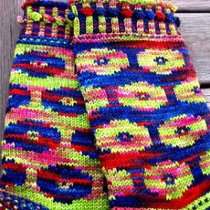 Woolmeise Poppy Socks, © Sue Grandfield