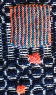 Knit patch and darning
