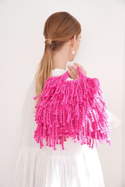 Mini Market Fringe Bag in Loopy Mango Big Cotton