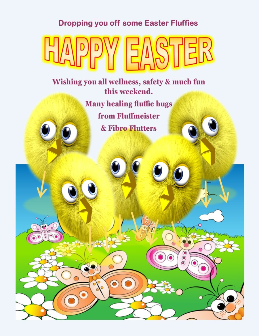 HAPPY EASTER CARD FLUFFIE CHICKS