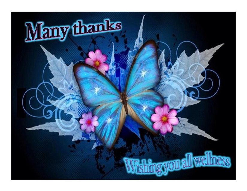 Many thanks POSTER butterfly