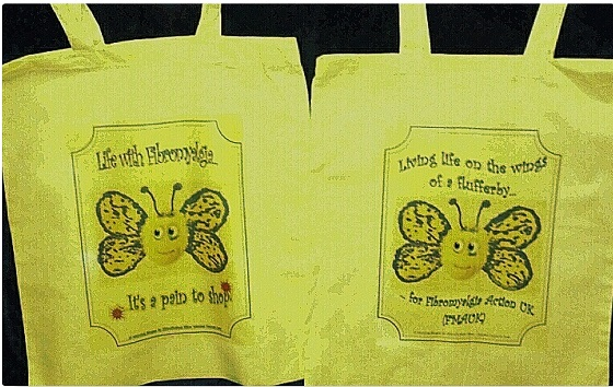 shopper bags for Fibro Awareness Day