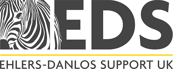 The Ehlers-Danlos Support UK banner. A place to get information and support for Ehler's Danlos Syndrome