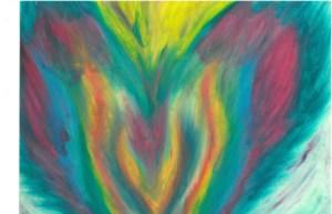 Pheonix II Oil Pastel by Shelley Lockwood