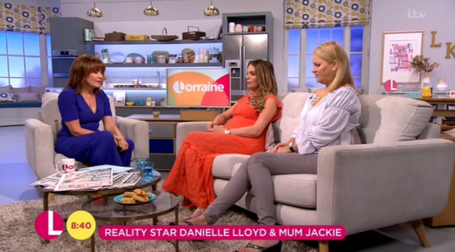 Danielle said she relies on her mum and it's hard to see her in so much pain, [Lorraine ITV]