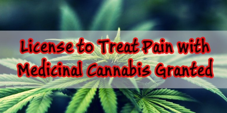 First license granted to treat pain with Medicinal Cannabis