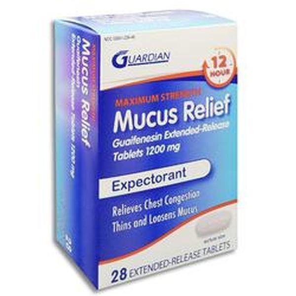 Guaifenesin ER 1200mg #28(tablet)   Fibro Pharmacy