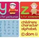 abecedario en inglés, y, z