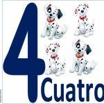carteles de los números para niños 4