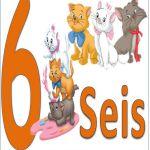 carteles de los números para niños 6