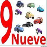 carteles de los números para niños número 9