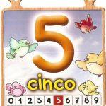 El número cinco para niños