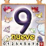 El número nueve para niños