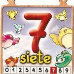El número siete para niños